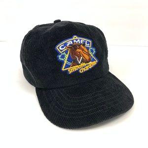 CAMEL Smooth Character Vintage Black Corduroy Cap
